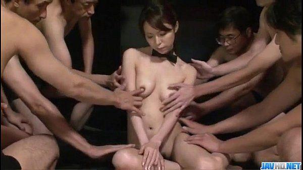 Kotone Aisaki massive group fuck in dirty hardcore