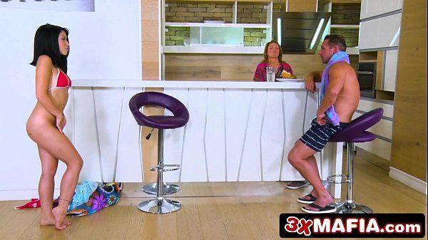 Sneaky Exotic Teen Rina Ellis Seducing Her Stepdad HD