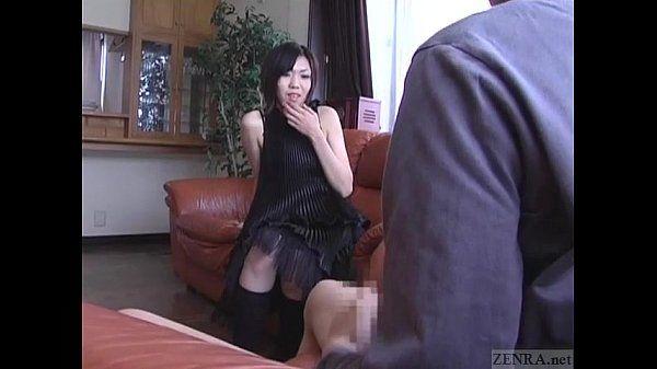 subtitulada Cfnm japonés senzuri Femdom lleva a corrida