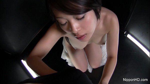 Asian slut gives a sexy POV blowjob HD
