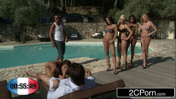 French BJ Roulette Bibi Noel, Blanche, Katia De Lys, Sharon Lee & Shannya Tweeks HD