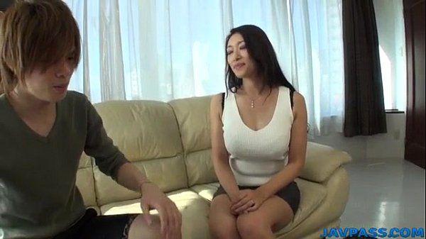 Busty Reiko Kobayakawa wants cock in her tight vag