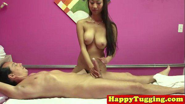 Busty handjob masseuse asian babe HD