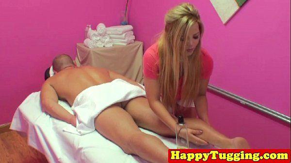 Blonde asian handjob masseuse HD
