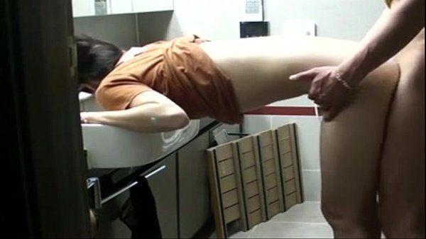 hot Korean chick gets fuck in bathroom