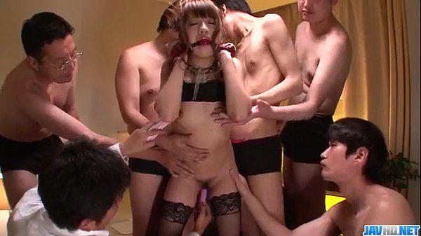 Superb gangbang with obedient Hazuki Okita