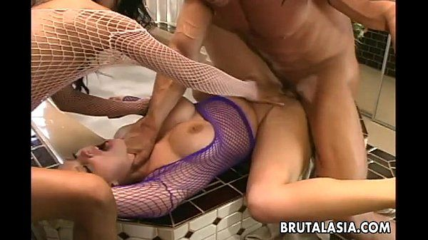 Super hot sluts are getting fucked hard in a threesome