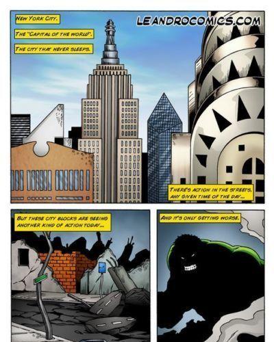 Leandro Comics Wonder Woman versus the Incredibly Horny Hulk! (Marvel vs DC)