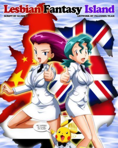 Palcomix Lesbian Fantasy Island (Pokemon- Digimon)