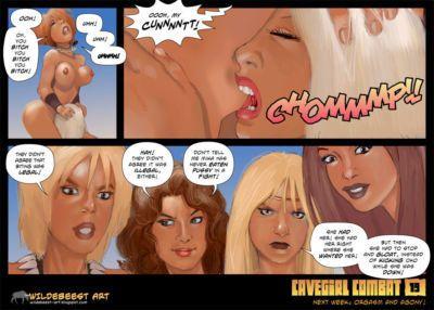 Wildebeest Cavegirl Combat - part 2