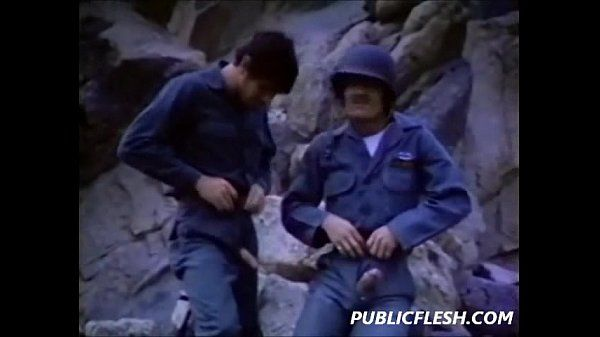 Vintage Gay Military Mutual Masturbation