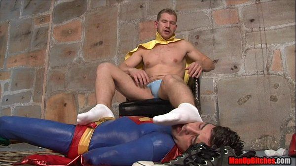 Superman gets tickled and milked by Alex Adams