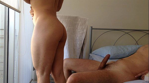 teasing a straight guy with my muscle ass