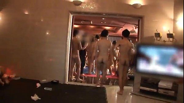Huge Asian sex party