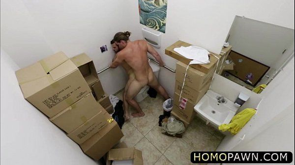Problematic dudes sell his bugle and get glory hole rimmed by huge cock