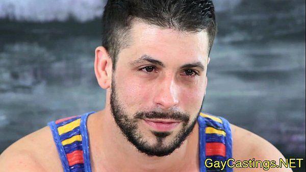 Spanish hunk sucks cock at gaycastings
