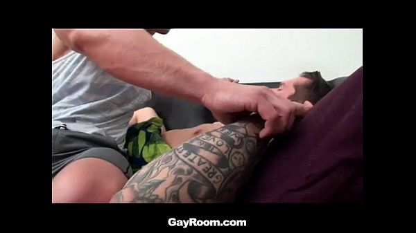 Sleeping muscled stud gets fondled before fucked hard in ass