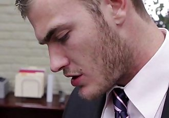 Colby Keller in the office sucking bossHD