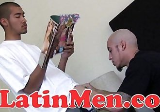 Hot muscular Latino pounding some hot tight hairy ass.