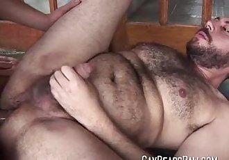 Hairy gay bear ass banged