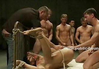Experienced gay hunk domination bondage