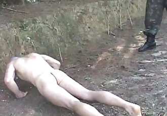 Hardcore outdoor military fucking and sucking