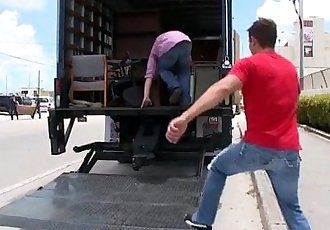 Caught fucking in the truck