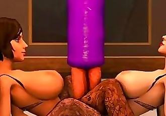 Bioshock infinite:Threesome tentacles