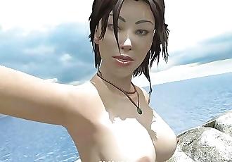 Lara Croft Playing With Tits - 3D - ANIMOPRON