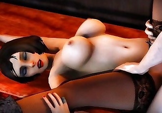Elizabeth fucked on a table