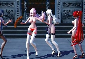 3D MMD Chinese and Japanese Girls - China Cyber