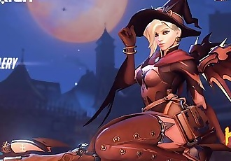 Overwatch Halloween 2017 - Mercy Witch Title Screen