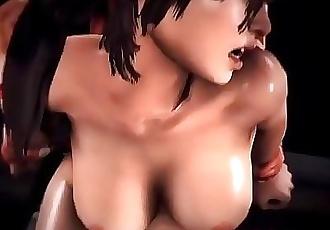 GamerOrgasm.comFatal Punish Lara Croft Hardcore Sex 16 min HD