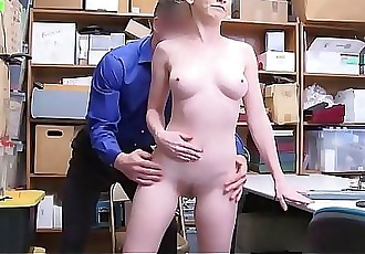 Petite Blonde Teen Athena Rayne Fucked To Orgasm By Security Officer After Stealing His Wallet 8 min 720p