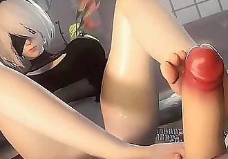 Ultimate 2B Hentai Compliation 14 min HD