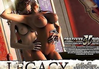 3D Comic: Legacy. Episode 6 4 min HD