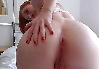 Redhead Nerd Dildo Buttplug & Vibrator Stockings on camGirlTeenCams.com 7 min