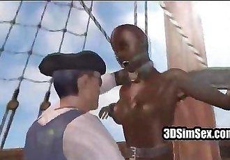 Black 3D animated slut