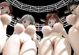 MMD SEX KanColle Kongou Sisters In Ghost Dance