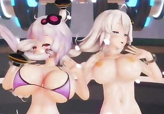 MMD SEX Kizuna Akari And Yukari Yuzuki - Suicide Parade