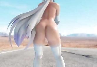 MMD SEX Haku Yowane In A White Suit - Pjanoo