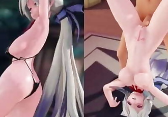 MMD SEX Haku Yowane Dances And Fucks In Girls