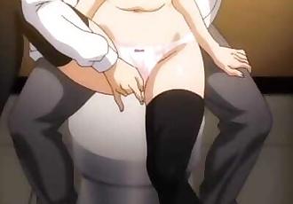 Hentai Crimson Girls Episode 3 Public Train and Toilet Gangbang