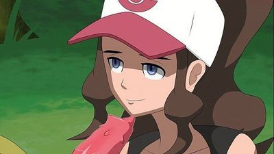 Pokemon - Hilda gives her Haxorus a blowjob - 2 min