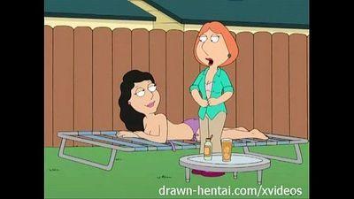 Family Guy Hentai - Backyard lesbians - 7 min