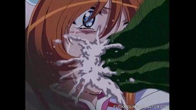 Monster Frenzy Over Hot Hentai Teen Cuties - 5 min