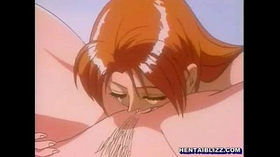 Redhead hentai lesbian fingering and licking wetpussy - 7 min
