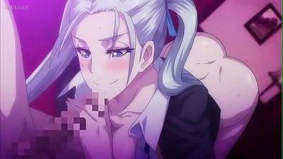 Horny hentai cartoon slut giving a footjob - 2 min