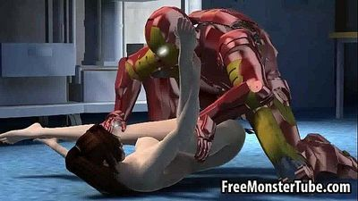 3D Wonder Woman sucks cock and gets fucked hard - 3 min