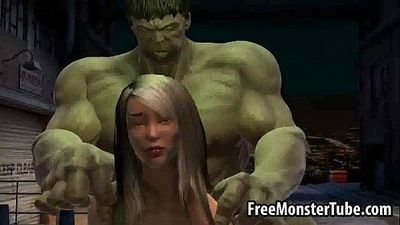Foxy 3D babe gets fucked by The Incredible Hulk-high 2 - 3 min